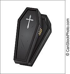 Halloween Coffin - Creative Abstract Conceptual Design Art...