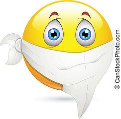 Handkerchief on Face Smiley Vector