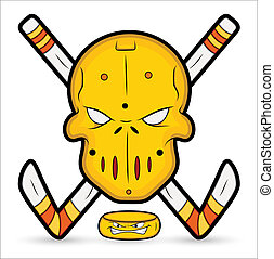 Creative Abstract Conceptual Design Art of Ice Hockey Vector Mascot