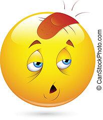 Injured Smiley Face - Creative Abstract Conceptual Design ...