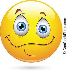 Innocent Smiley Eyes Face - Creative Abstract Conceptual...