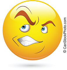 Irritated Smiley Face - Creative Abstract Conceptual Design ...