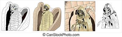 Mummy Illustrations Vectors - Creative Abstract Conceptual...