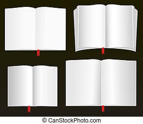 Open Books Vectors