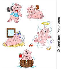 Pig Vector Illustrations - Creative Abstract Conceptual...