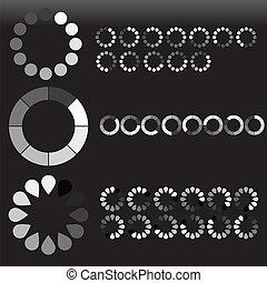 Creative Abstract Conceptual Design Art of Preloaders Sets Vectors