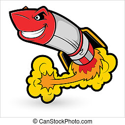 Rocket Cartoon Mascot Vector - Creative Abstract Conceptual...