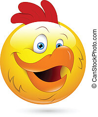 Rooster Smiley Face