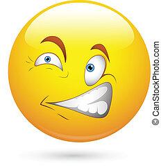 Scared Smiley Face Vector
