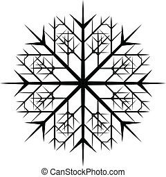 Snowflakes Christmas Vector