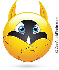 Super Hero Face Smiley Character