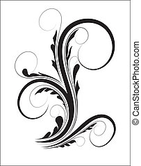 Swirl Floral Shape - Creative Abstract Conceptual Design Art...