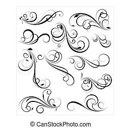 Creative Abstract Conceptual Design Art of Swirly Vectors Design Elements