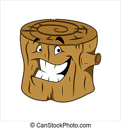 Tree Stub Character - Creative Abstract Conceptual Design...