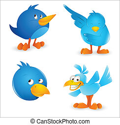 Twitter Bird Cartoon Icons