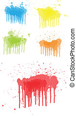 Vector Drip Paint - Creative Abstract Conceptual Design Art...