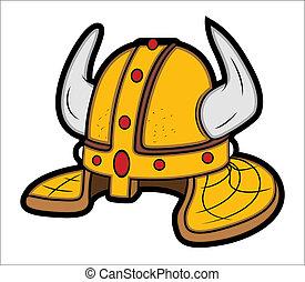 Viking Helmet Mascot Vector