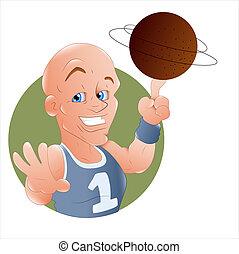 Volleyball Player Illustration