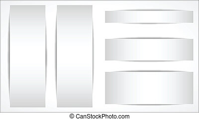 White Blank Banners Vectors