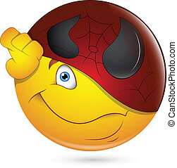 Being Super Hero Smiley Face - Creative Abstract Conceptual...