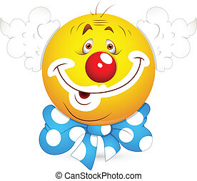 Joker Face Smiley Vector