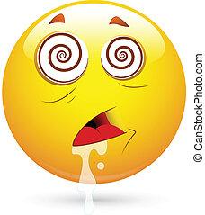 Hypnotized Smiley Face Vector