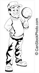 Retro Cartoon Character