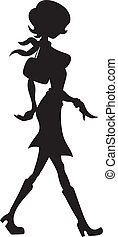 Sexy Girl Silhouette