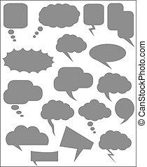 Speech Clouds Vector