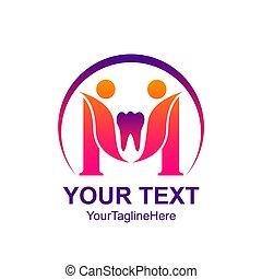 Creative abstract Dental Clinic Family vector logo design template element. Colorful concept icon