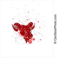 Angry Bull Mascot Vector Character - Creative Abstract...