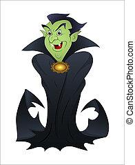 Halloween Vampire Cartoon - Creative Abstract Design Art of...