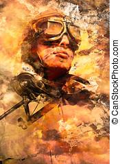 Painted pilots at war
