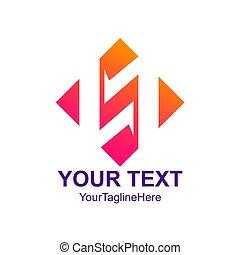 Creative abstract diamond square vector logo design template element. Colorful concept icon