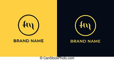 Creative abstract letter FM logo. This logo incorporate with abstract typeface in the creative way.It will be suitable for which company or brand name start those initial.