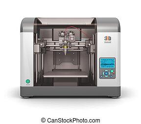 3D printer - Creative abstract new technologies concept: ...