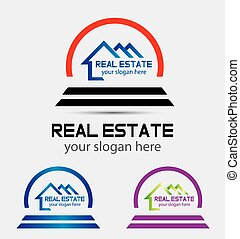 Creative abstract real estate logo