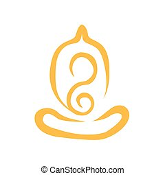 Creative Abstract Simple Line Art Yoga Meditation
