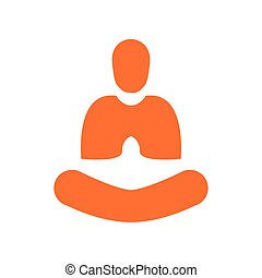 Creative Abstract Simple Yoga Meditation Orange