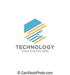 Creative Abstract Technology Concept Logo Design Template