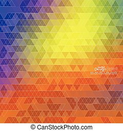 Creative abstract triangle pattern.