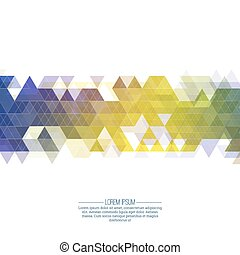 Creative abstract triangle pattern. Polygonal mosaic ...