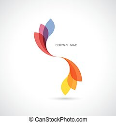 Creative abstract vector logo design template