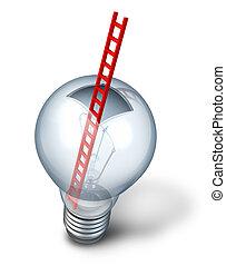 Creative Access - Creative access as an open glass light...