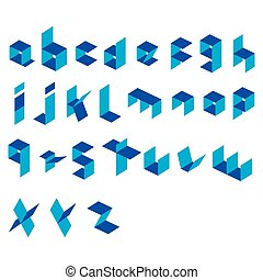 creative alphabet design vector