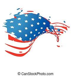creative american flag style design