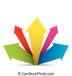 creative arrow banner design