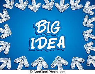 creative arrow focus to big idea ba