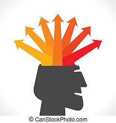 creative arrow info-graphics concep