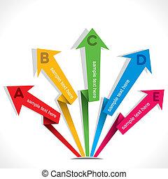 creative arrow info-graphics